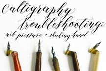 Calligraphy - Lettering / Calligraphy,Lettering, Books, Vintage, Manuscript, Tutorials, Tips, How to, Projects Ideas.
