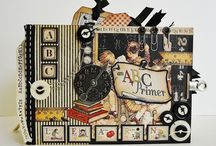 Graphic 45 / Mini albums met papier van graphic 45