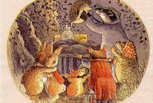 Hedgehogs Illustrations