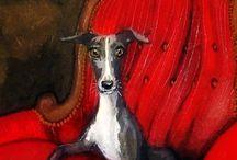 Greyhounds, Barsois en Friends Art