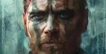 FASSBENDER fan art - funny - others / On my profile, if you like, also see OTHER BOARDS ABOUT MICHAEL: Portraits, Photo shoots, Movies, TV series, Candids, gifs, Clips, With Alicia Vikander, Family, Sport,  Covers ... With fans ... 300 ... X-Men ... Jane Eyre... Assassin's Creed ... The Light Between Oceans ...Trespass Against Us ... Alien Covenant... Song to Song ...