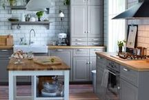 Rustic Country Kitchen Ideas / We're going for a country kitchen with a modern twist and elements of fun. Lots of ideas on this board.