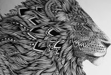 illustrations / art illustrations...graphic illustrations...art. not related to doodles