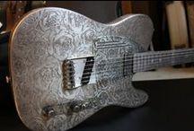 music guitar aluminium/steel