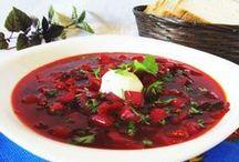 Menú de la cocina rusa  del Grupo 5 LCLT1314 / Son el plato principal, el segundo plato y el poste de la cocina rusa.