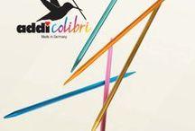 addiColibris / Die wahrscheinlich leichtesten buntesten Spielenadeln der Welt. The probably most light weighted and colorful needles in the world! #addiColibris