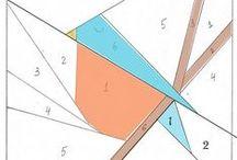 paper pieced Quilt-Sewing-Pattern / Patchwork Nähen nach Zahlen