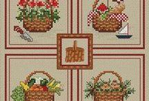 Groups of seasons cross stitch