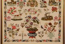 55 Samplers / Samplers (old e news), items for sampler embroidery, ancient embroideries, etc.