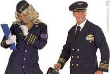 Pilote & Hôtesse De L'Air / Si certains métiers font rêver vous aurez certainement envie de vous déguiser avec votre compagne en Pilote et hôtesse de l'air !