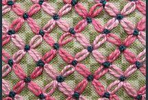 Needle stitches / Gobelin stitches, sewing stitches, ideas...