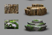 Refrence - nature / References for drawing terrain, foliage, rocks, dirt, trees clouds and more. Form and textures
