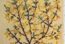 Danish embroidery - 1 / Arets 1981 - Wild Flowers - Danische Kreuzstitcmuster - Fleurs et Fruits Sauvages - Botanical Garden - Flowers and Berries - Herbarium/Herbier - Arbustes floreaux - Farveplanter og frugten - Arets 2002 - Fruhling/Primavera - Arets 1993 - Arets 1996 - Winter/Inverno - Classic1 - Autumn/Autunno - Flowers in baskets & pots - Tiere & baume - Summer/Estate -