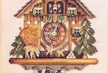 21 Clocks cross stitch