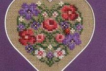 *** Hearts cross stitch