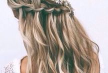 || WEDDING HAIR INSPIRATION || / Hair styles and inspiraton for your wedding day look including half up half down, messy buns, beach waves, bridal updos, wedding hair tutorials, wedding hair with veils, boho wedding hair and wedding flower crowns.