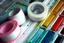 Art supplies/ art tools & how to's/make it yourself finds / Finds and inspiration about making your own art tools for special uses and techniques.