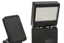 Solar-powered LED security spotlight / Small and compact, yet extremely powerful!