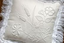 Mountmellick embroidery / Mountmellick embroidery is a style of whitework embroidery that comes from the town of Mountmellick in Ireland. It is floral embroidery, featuring the plants that grow along the river that flows through the town.