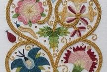 Elizabethan embroidery / Dating from around 15 and 1600s. Tudor, Stuart, Jacobean and Elizabethan periods.