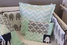 Mint Zig Zag / Mint and Navy is quite the fashionable colour scheme for nurseries, and here we have incorporated our cute Ele with a classic Mint Zig Zag.