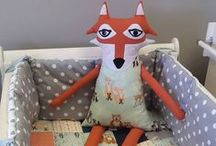 Woodland Wonders / Just a cute, woodland themed cot quilt and a Felix Fox :)