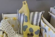 Geo and Yellow / Grey and Yellow is the perfect palette for a neutral nursery. Add a Giraffe and some Dandelions for something extra special  For pricing on our bespoke bedding and decor, please email us at info@studiocollection.co.za