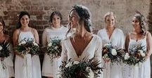 || NEUTRAL WEDDING INSPIRATION || / Neutral wedding colors; using cream and greens to create a romantic, classic wedding including florals, decor, neutral bridesmaids dresses, linens, and more!