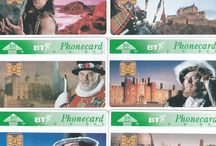 BT Tourism Tender Cards / This board depicts the BT Tourism Tender Cards from 1993. In total some nine companies provided samples in a tender process to produce the new chip BT Phonecards (released in 1996).