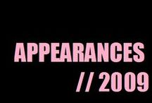Appareances (2009) / by Alesha Dixon (AleshaWorld)
