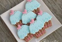 Decorated Biscuits & cup cakes