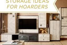 Storage Ideas For The Hoarder/OCD In You / Whether you're a border-line hoarder or have some serious OCD, here are some storage solutions to help you tuck things out of sight or manage your mess.