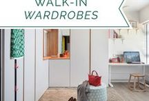 Walk-in Wardrobes / Strut your stuff with these walk-in wardrobe ideas; turn your home into a runway - you can never have too much clothes!