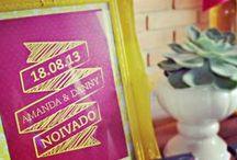 Noivado - Amarelo e Rosa / Design #amareatelier feito para home engagement nas cores: amarelo e rosa. Muitos detalhes, muito amor!! =)