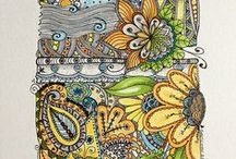 zentangle and drawing