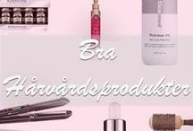Utmärkta Hårvårdprodukter / Samling av alla hårvårdsprodukter som är värda att ha hemma som serum, inpackningar, schampoo och liknande. Tipsa oss gärna om bra produkter på vår hemsida