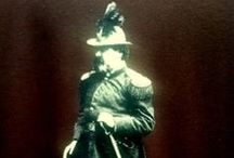 Emperor Norton / America's first and only Emperor (self proclaimed).  Emperor Norton arrived in San Francisco via South Africa and prior to that, England, where he was born.  This fascinating Character provides a window into the soul of San Francisco today.
