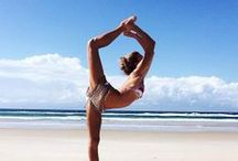 Yogi Love / I've been following some inspiring women on instagram who regularly practice yoga. Their strength and poses are incredible. Hopefully I will be able to do some of these poses one day.