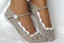 háčkování - ponožky a bačkory