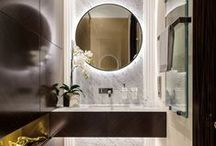 Bath / No matter the size, luxurious materials create spaces for pampering.