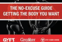 Fitness: The Ultimate Guide / Get Your Fit Together, Fit Men Cook, and Grokker have teamed up to provide you with everything you need to get the results you want. No matter your level of fitness knowledge, budget, culinary skills, or free time, our NO EXCUSES Pinterest board is your all-in-one health & fitness resource! #GYFT #FMC #Grokker #NOEXCUSES