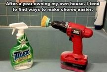 Cleaning Hacks / Sometimes it's easier to be creative than go to Wal-Mart