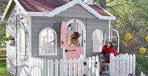 Casitas de madera para niños  /PLACES for Children / Casitas de madera infantiles. Puedes elegir la combinación de colores que más te gusten.