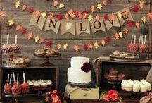 Fall Weddings Ideas / From color palettes to centerpieces to cakes, get tons of inspiration for your fall wedding.
