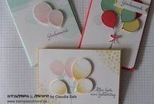 Karten/Cards - Geburtstag/Birthday / Karten mit Stampin' Up! zum Geburtstag