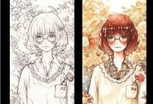 art in progress, watercolors, inspirations,