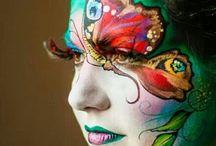 Disfraces y maquillajes / Carnaval, Haloween. Maquillaje de fantasia