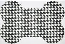 Houndstooth / houndstooth everywhere - with and without dogs