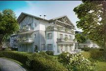 """""""Tegernsee Villen"""" Luxuswohnungen & Appartements / Mit dem Kauf einer Gartenwohnung, Terrassenwohnung oder einem Penthouse im Neubauprojekt Tegernsee Villen in Abwinkl, Gemeinde Bad Wiessee, erfüllt sich der Traum von einer Eigentumswohnung am Tegernsee in Bayern. Sonnige Ruhelage, Markenausstattung, moderne Architektur und Seenähe machen dieses Planquadrat-Bauprojekt nahe München zum perfekten  Eigenheim. Auch als Anlageobjekt geeignet. Jetzt traumhafte Neubau-Immobilie am Tegernsee in Oberbayern kaufen."""