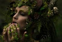 Forest Magic / A moodboard for magical forest creatures (forest elves, fauns, fairies).